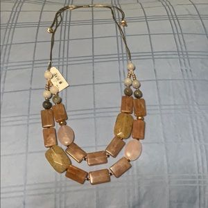 Jjill expandable necklace on silk chain